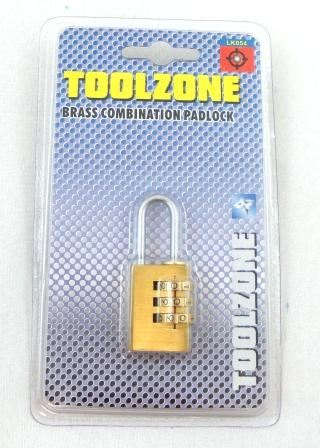Toolzone Small Combination Padlock 3 Dial