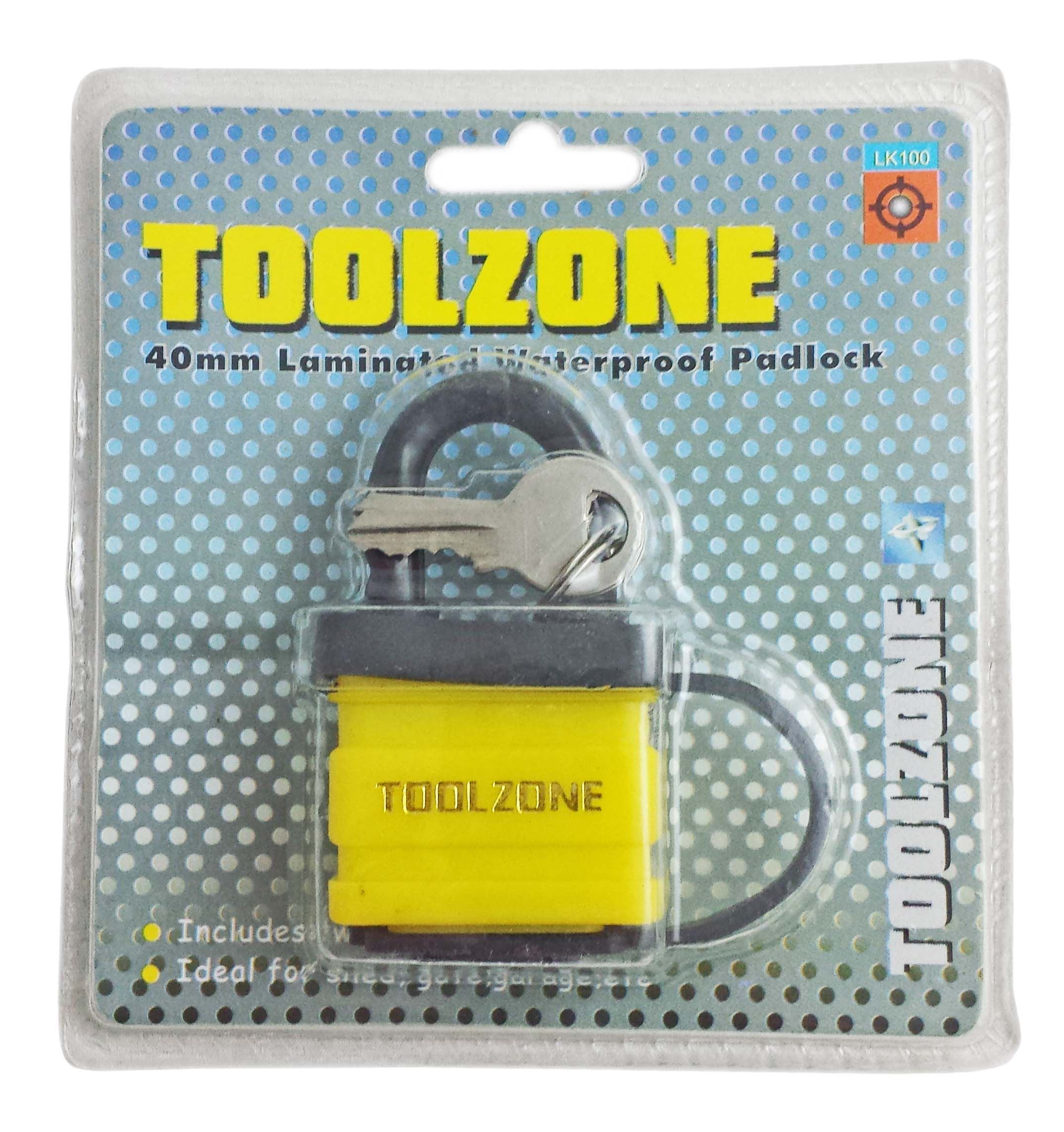 Toolzone 40Mm Laminated Waterproof Padlock