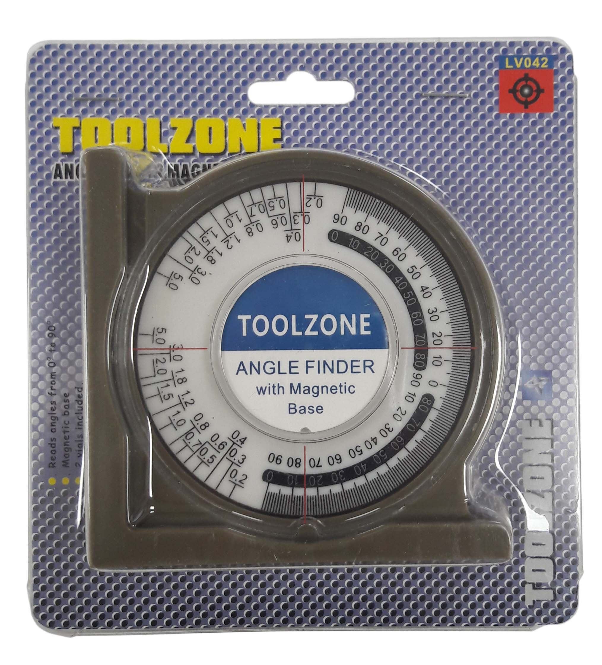 Toolzone Quality 95Mm Angle Finder Mag Base