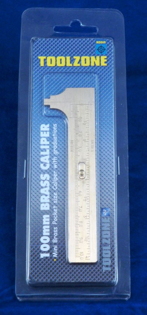 Toolzone 100Mm Brass Caliper Vernier