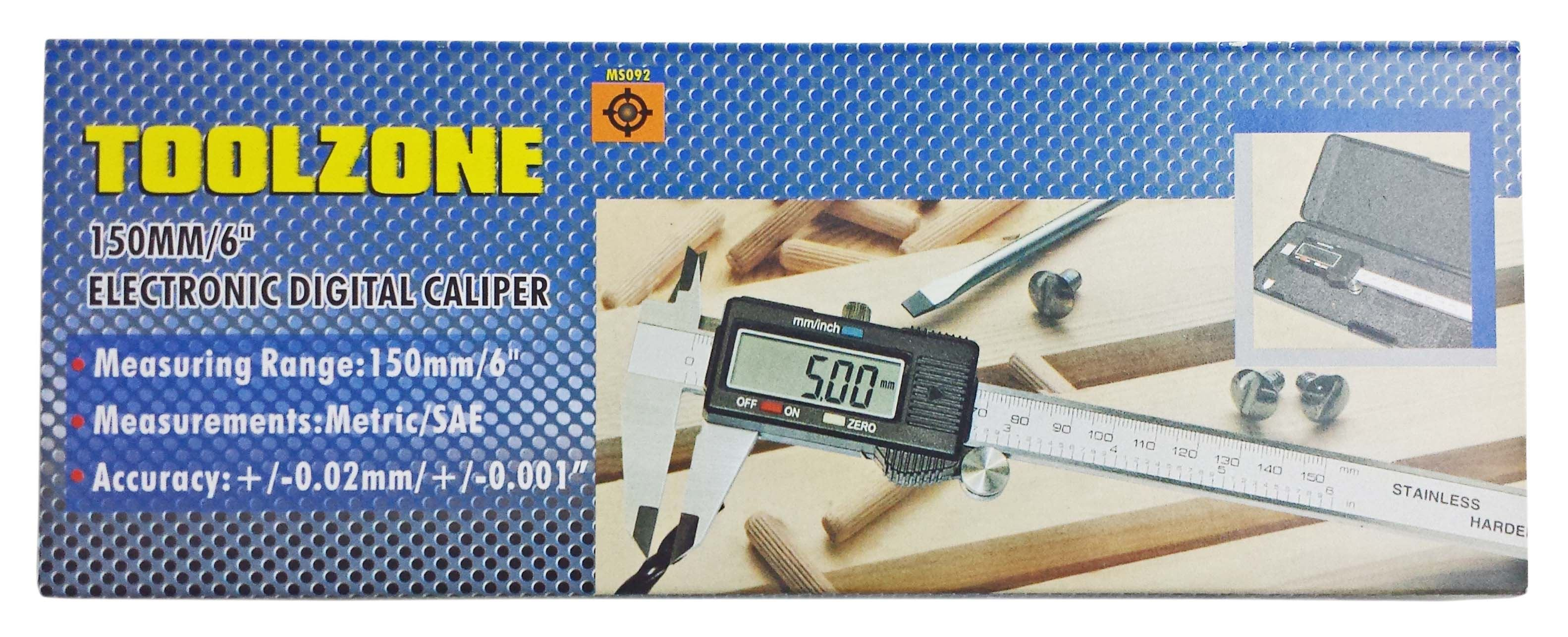 Toolzone 150Mm Digital Vernier In Case