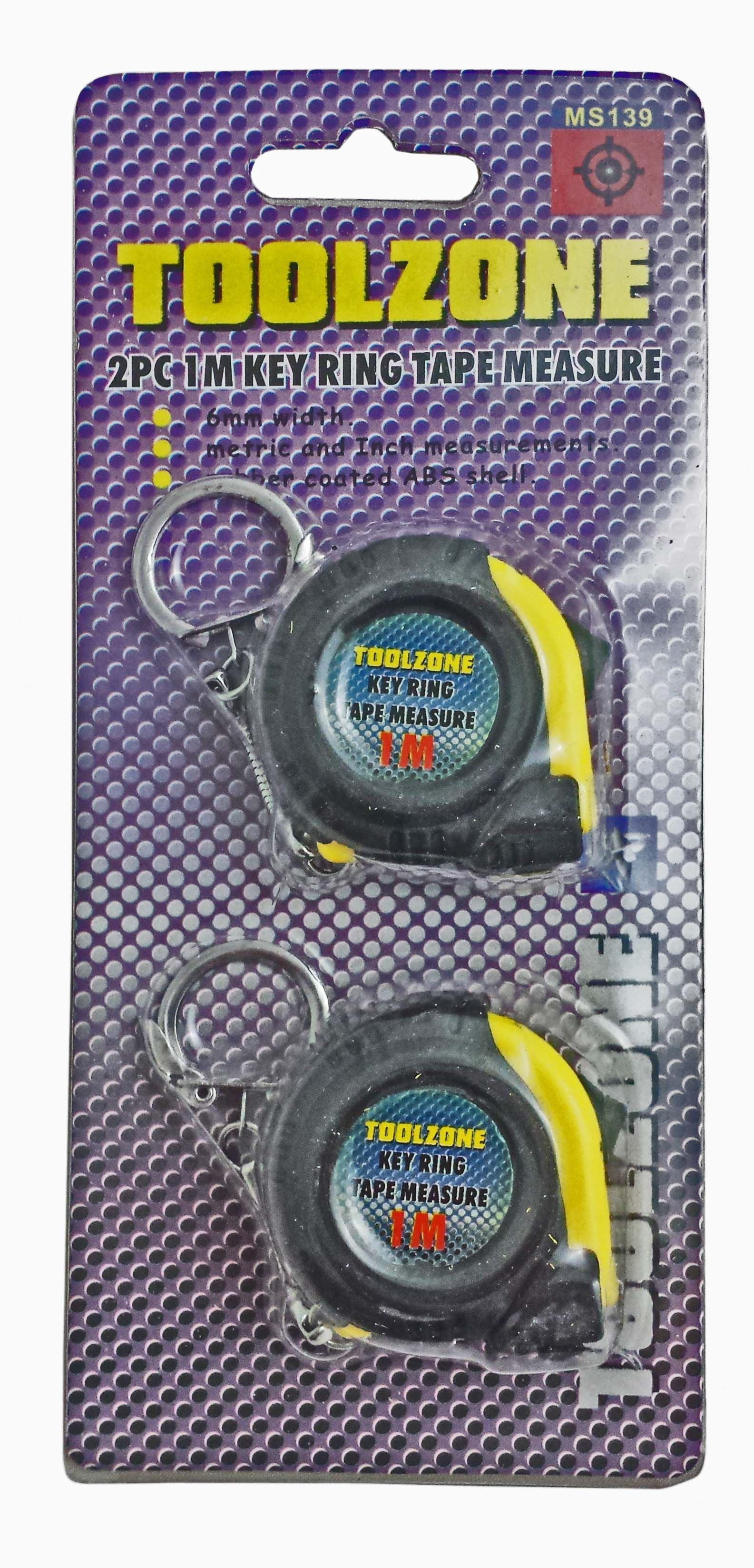 Toolzone 2Pc 1M Tape Measure Abs Shell