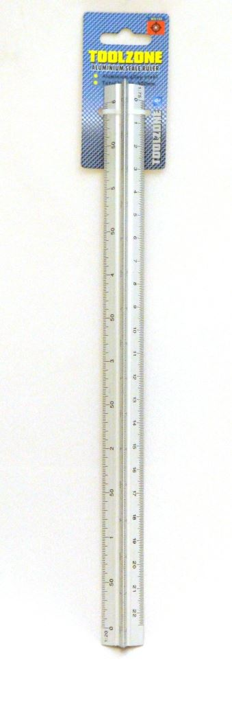 "Toolzone 12"" Triangular Scale Ruler"