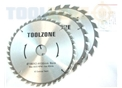 Toolzone 3Pc 190Mm 30Mm Tct Circ. Saw Blades