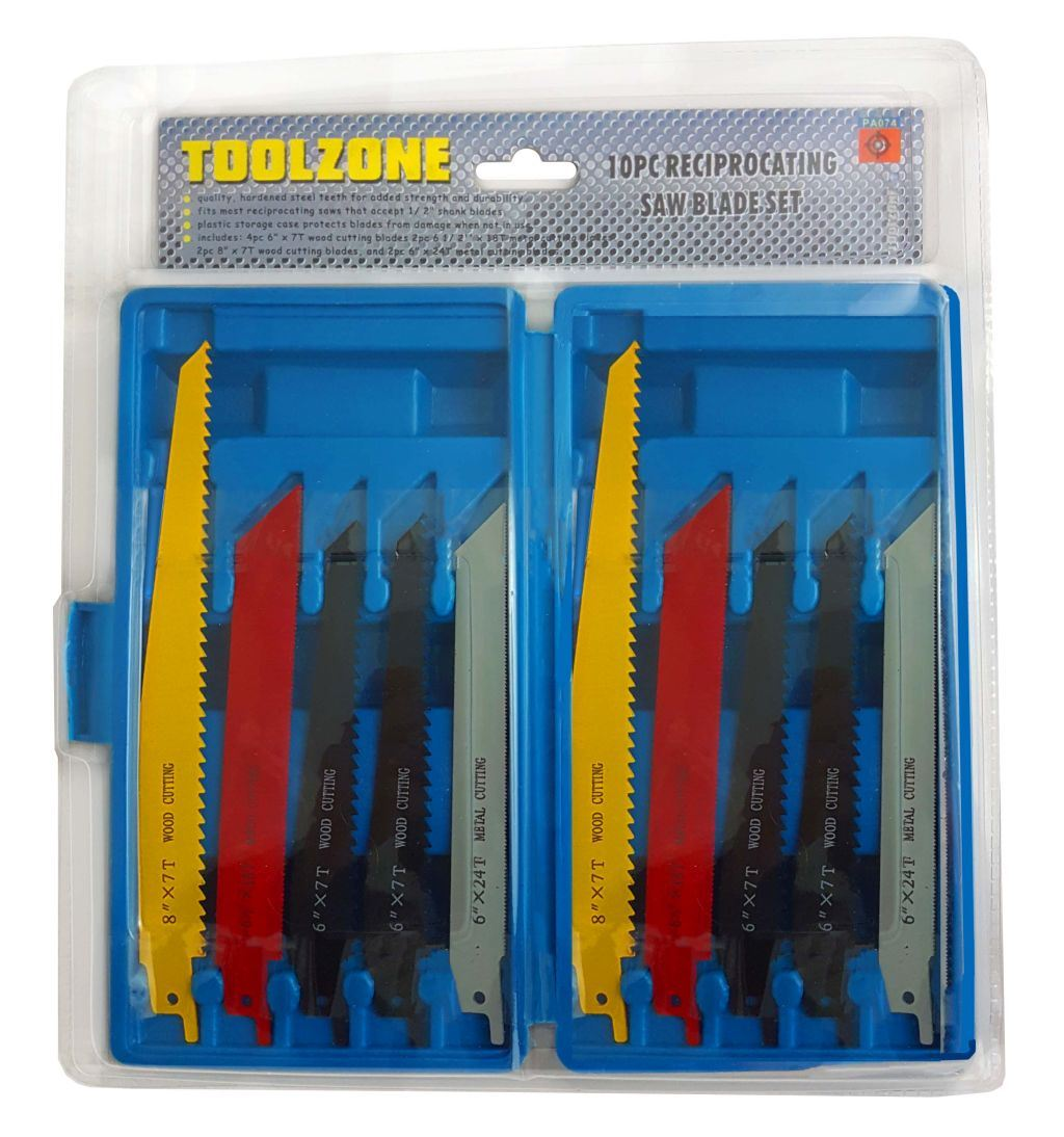Toolzone 10Pc Reciprocating Saw Blades
