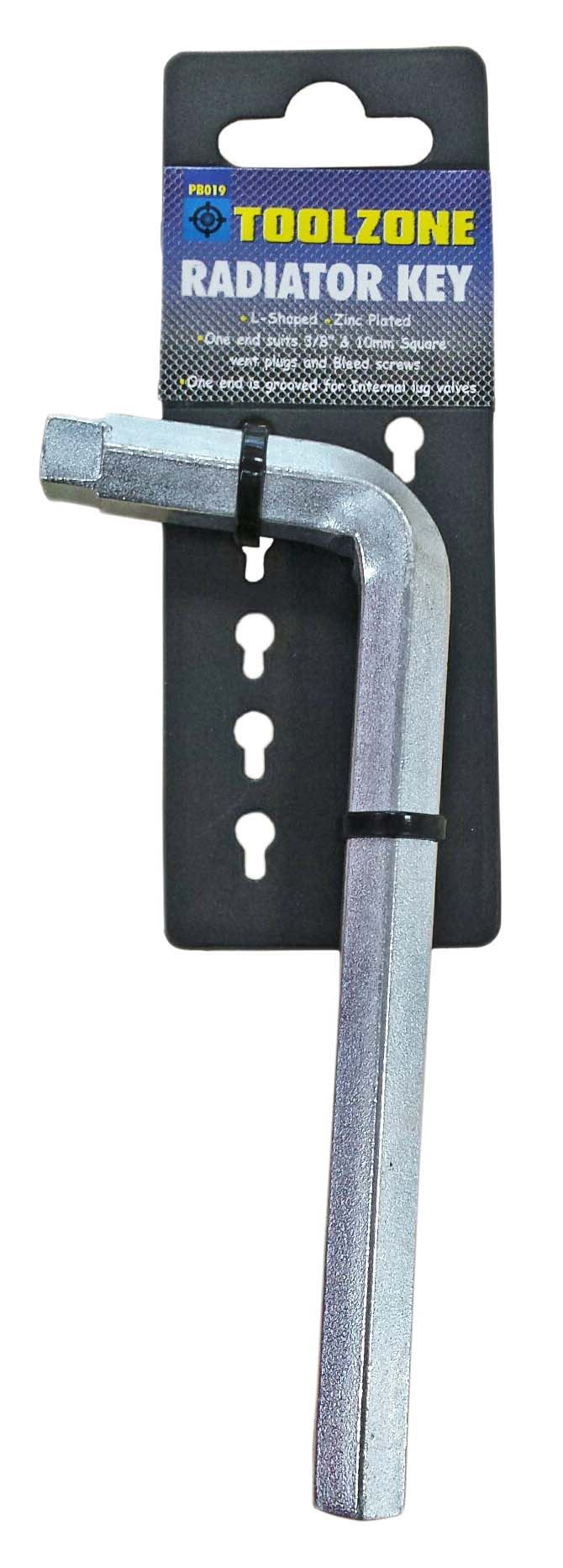 Toolzone Radiator Key L-Shape
