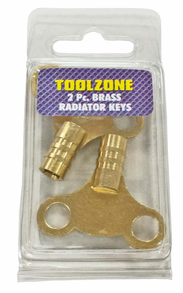 Toolzone 2Pc Radiator Keys Brass