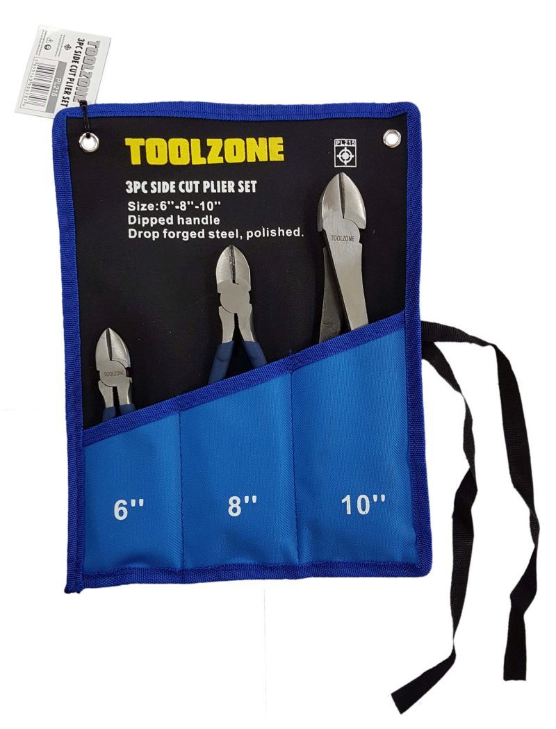 Toolzone 3Pc Side Cut Pliers Set
