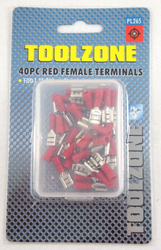 Toolzone 35Pc Red Female Terminals