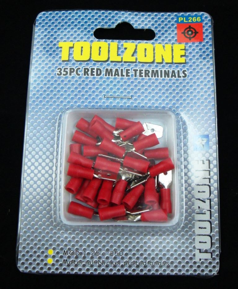 Toolzone 35Pc Red Male Terminals