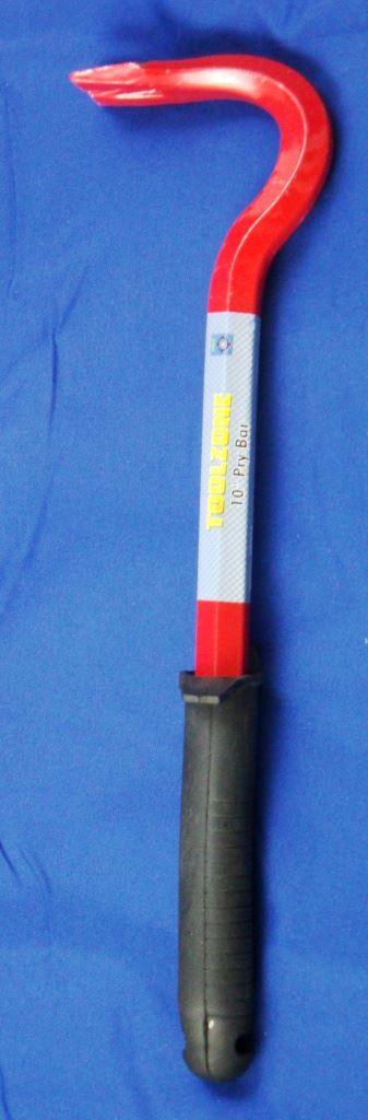 "Toolzone 10"" Pry Bar With Rubber Handle"