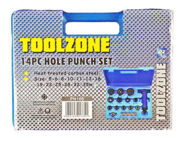 Toolzone 14Pc Hole Punch Set 5 - 35Mm