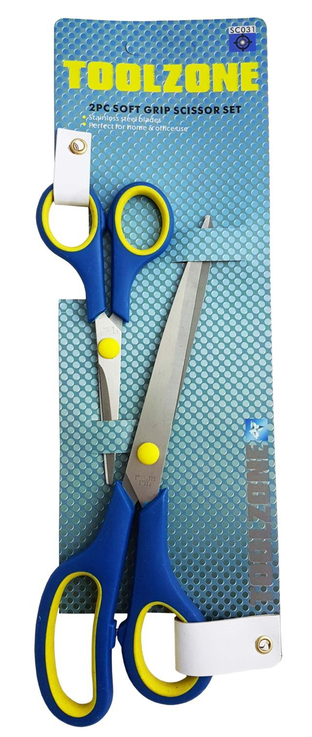 Toolzone 2Pc Scissor Set Softgrip