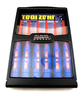Toolzone 6Pc Prec Vde Tamper Star Screwdrivers