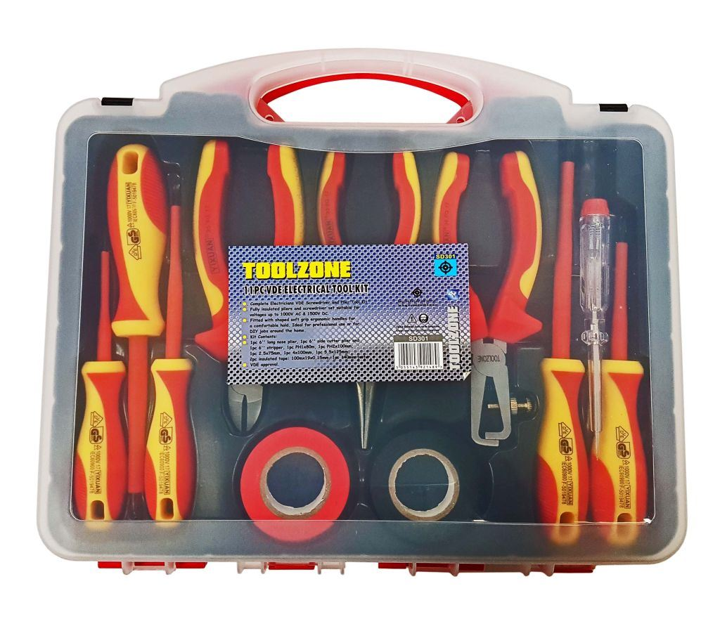 Toolzone 11Pc Vde Electricians Tool Kit