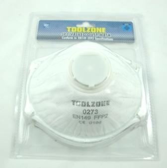 Toolzone 3Pc Dust Masks With Valve Respirators
