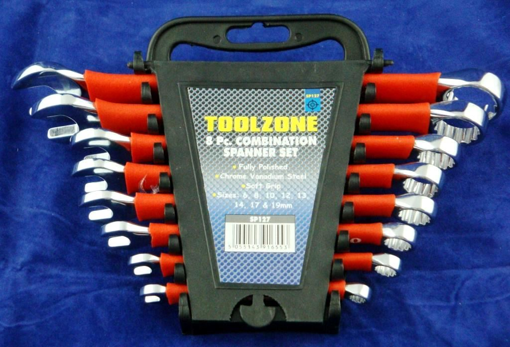 Toolzone 8Pc Softgrip Combination Spanners