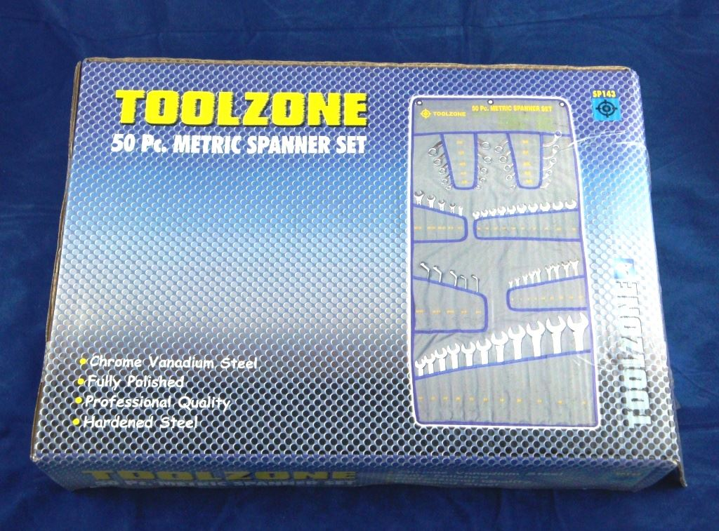 Toolzone 50Pc Crv Spanner Set