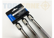 "Toolzone 3Pc 3/8"" Long Ext Bars 15/18/24"""