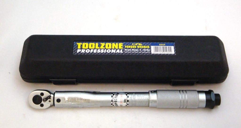 "Toolzone 1/4"" Q.Low Range Torque Wrench 5-25N"