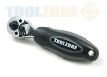 "Toolzone 1/4"" & 3/8"" Stubby Ratchet Handle"