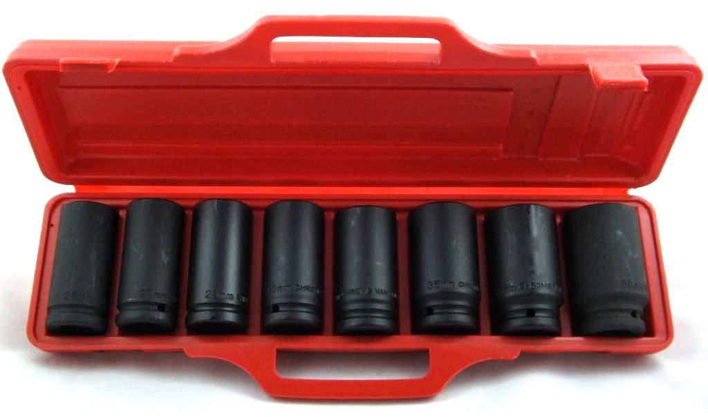 "Toolzone 8Pc 3/4"" Deep Impact Sockets"
