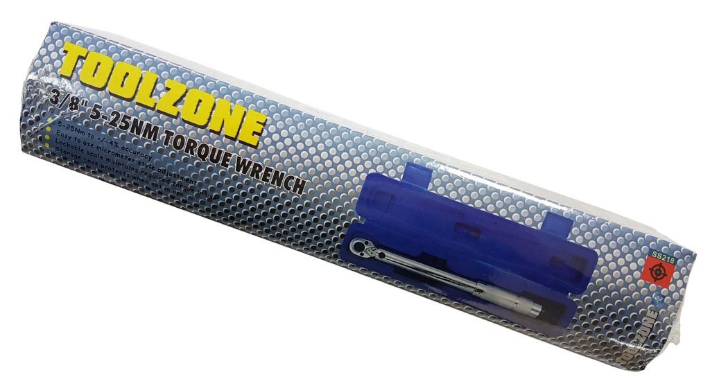 "Toolzone 3/8"" Dr. 5-25Nm Torque Wrench"