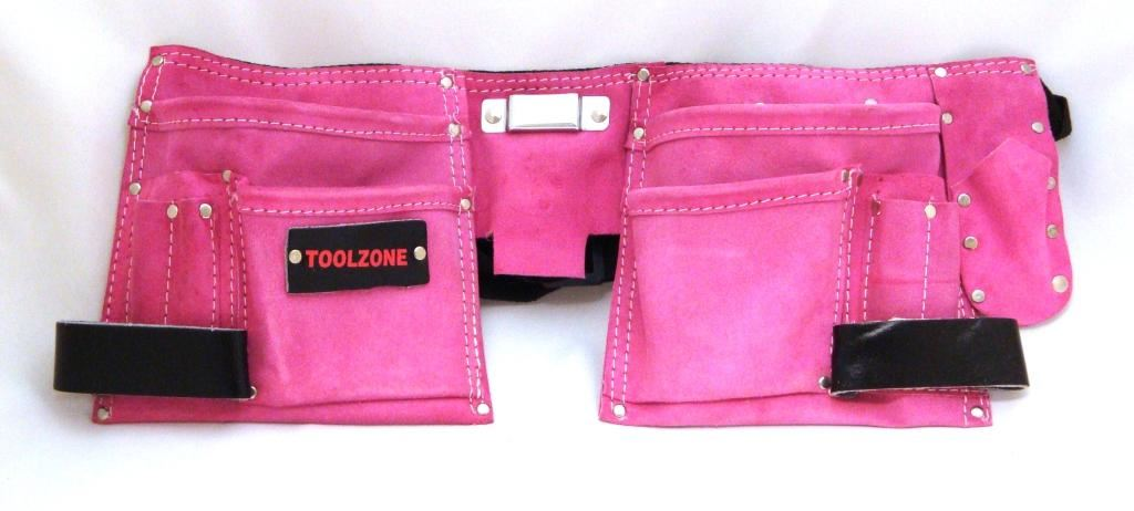 Toolzone Pink Double Tool Pouch