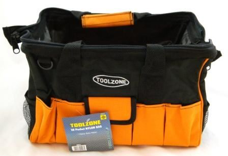 "Toolzone 28 Pkt 16"" Hard Base Nylon Bag"