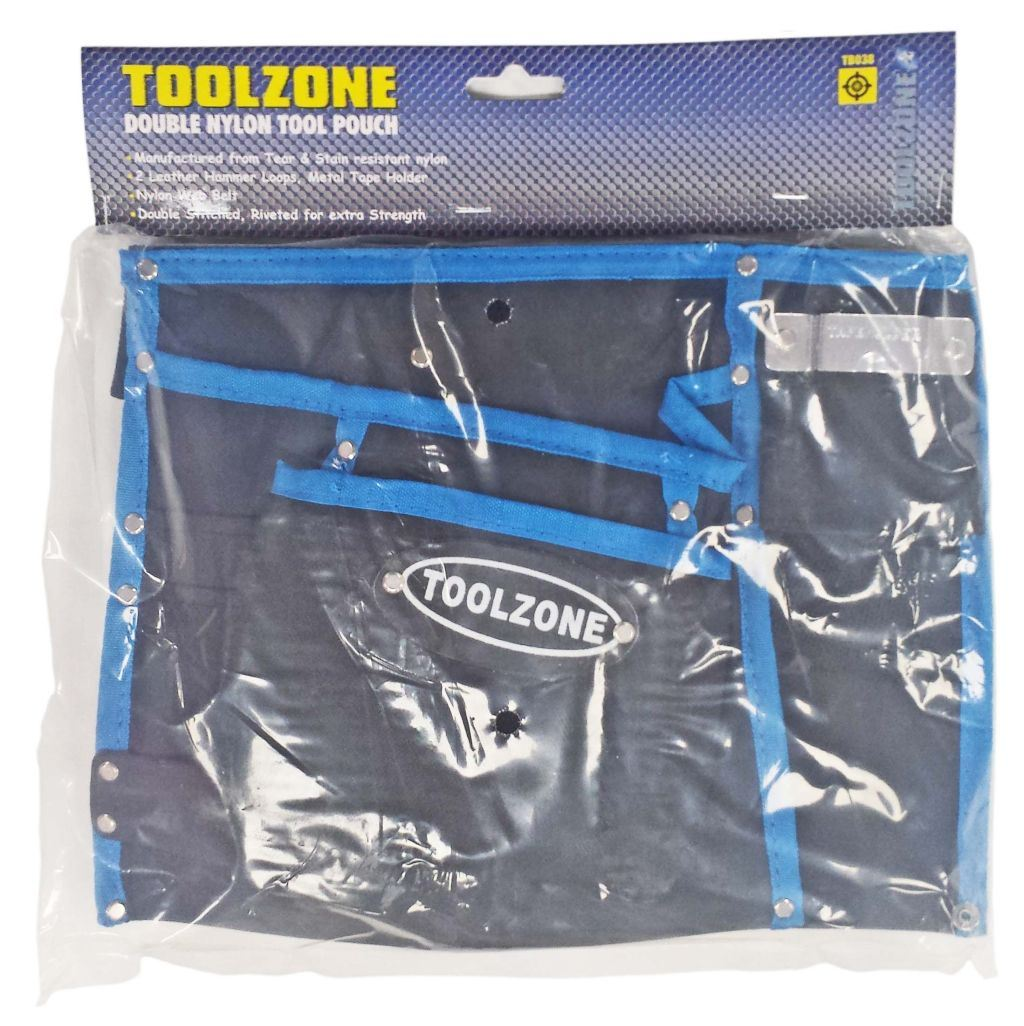 Toolzone 13 Pocket Nylon Double Tool Pouch