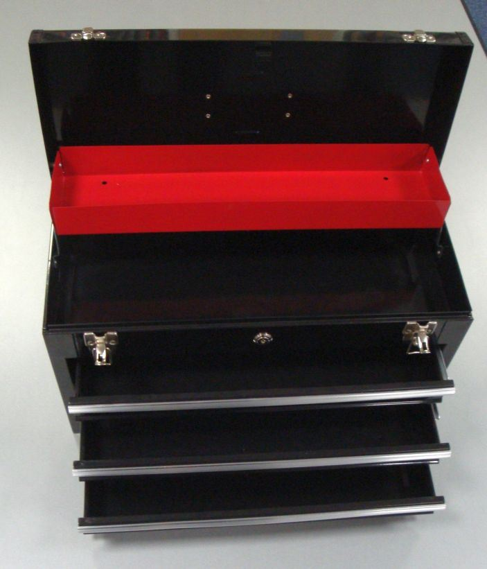 "Toolzone 20"" Metal Top Box With 3 Drawers"