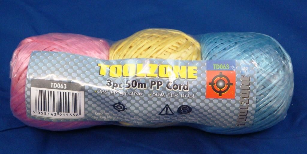 Toolzone 3Pc 50M Polypropylene Cord