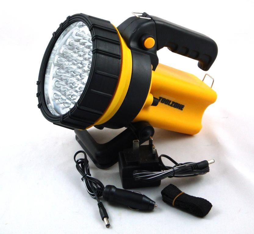 Toolzone 37 Led Rechargeable Spotlight