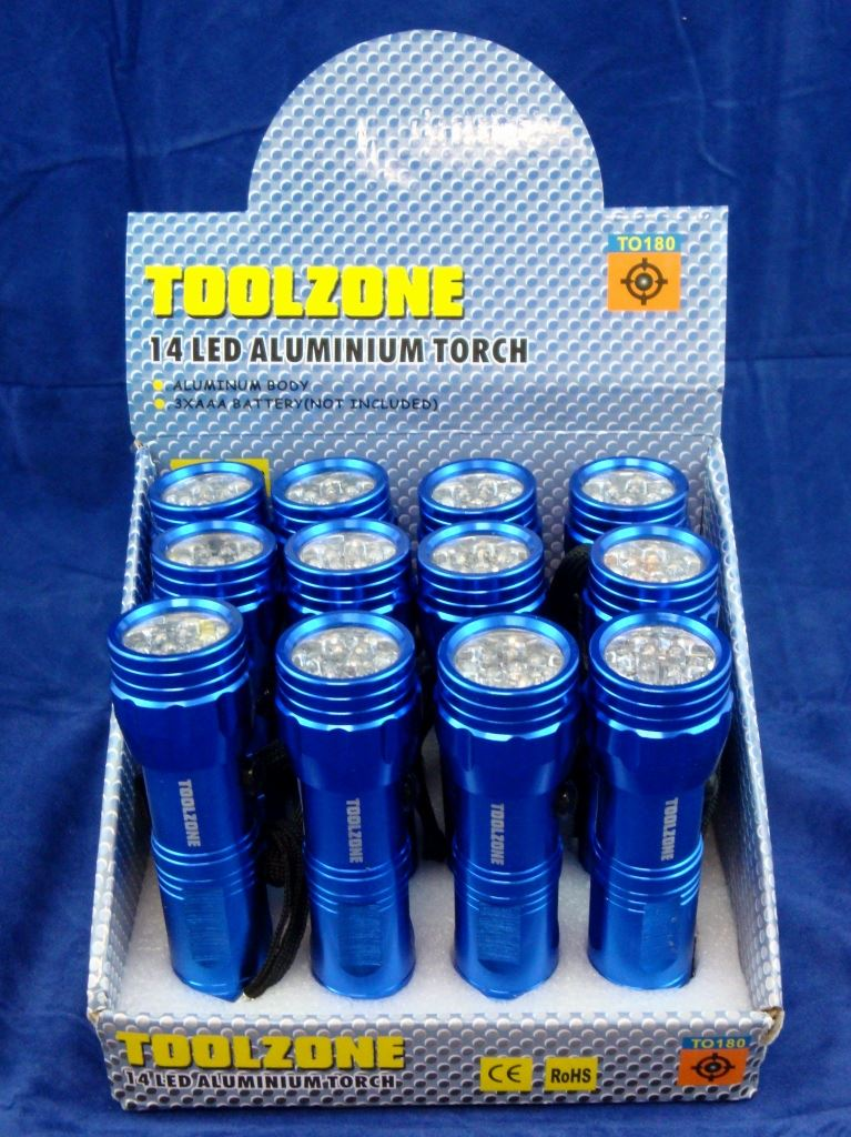 Toolzone 14 Led Aluminium Torch
