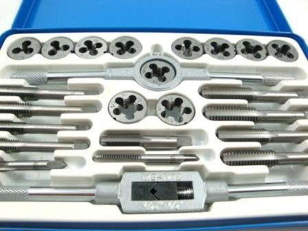 Toolzone 24Pc Unf/Unc Alloy Tap & Die Set