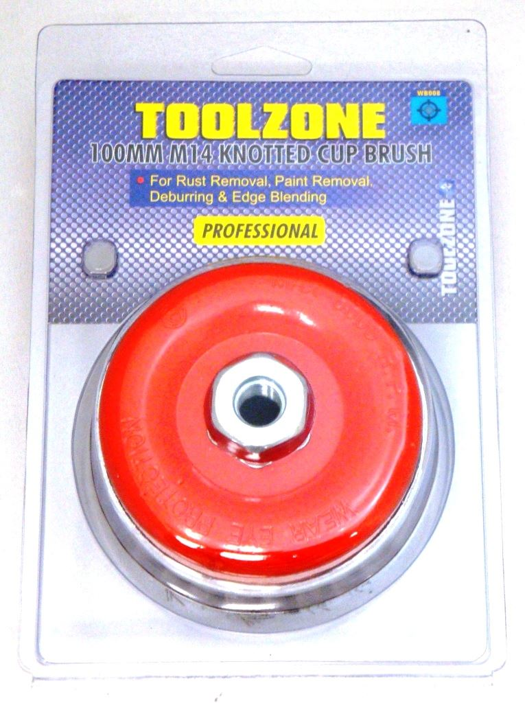 Toolzone M14 100Mm Prof Wire Cup Brush