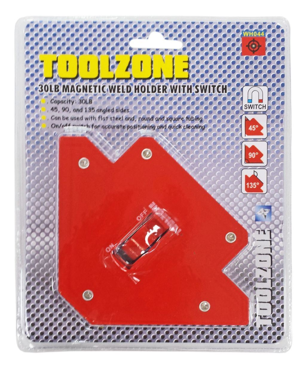 Toolzone 30Lb Magnetic Weld Holder Switched