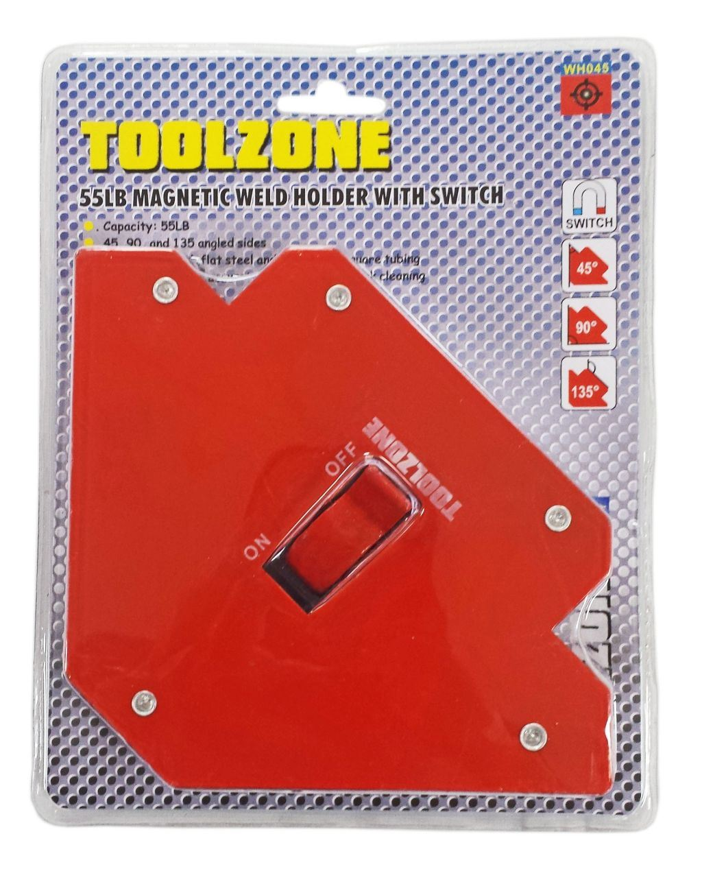 Toolzone 55Lb Magnetic Weld Holder Switched