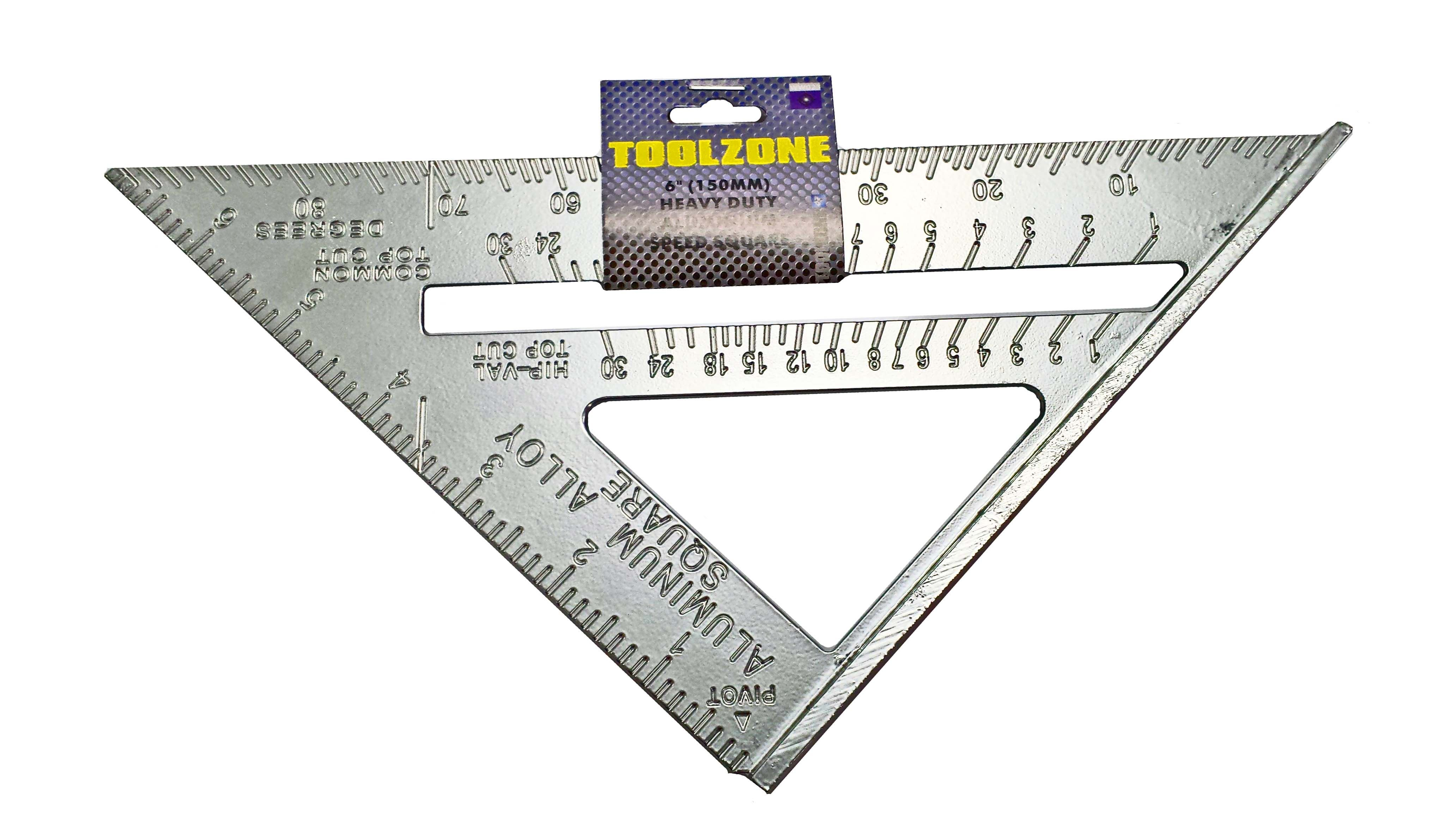"Toolzone 6"" Aluminium Speed Square"