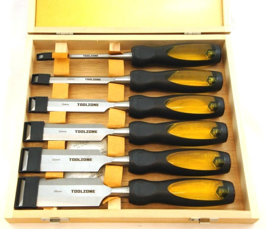 Toolzone 6Pc Wood Chisel Set In Case