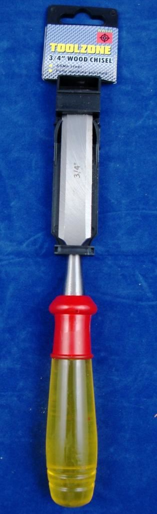 "Toolzone 3/4"" Wood Chisel Clear Handle"