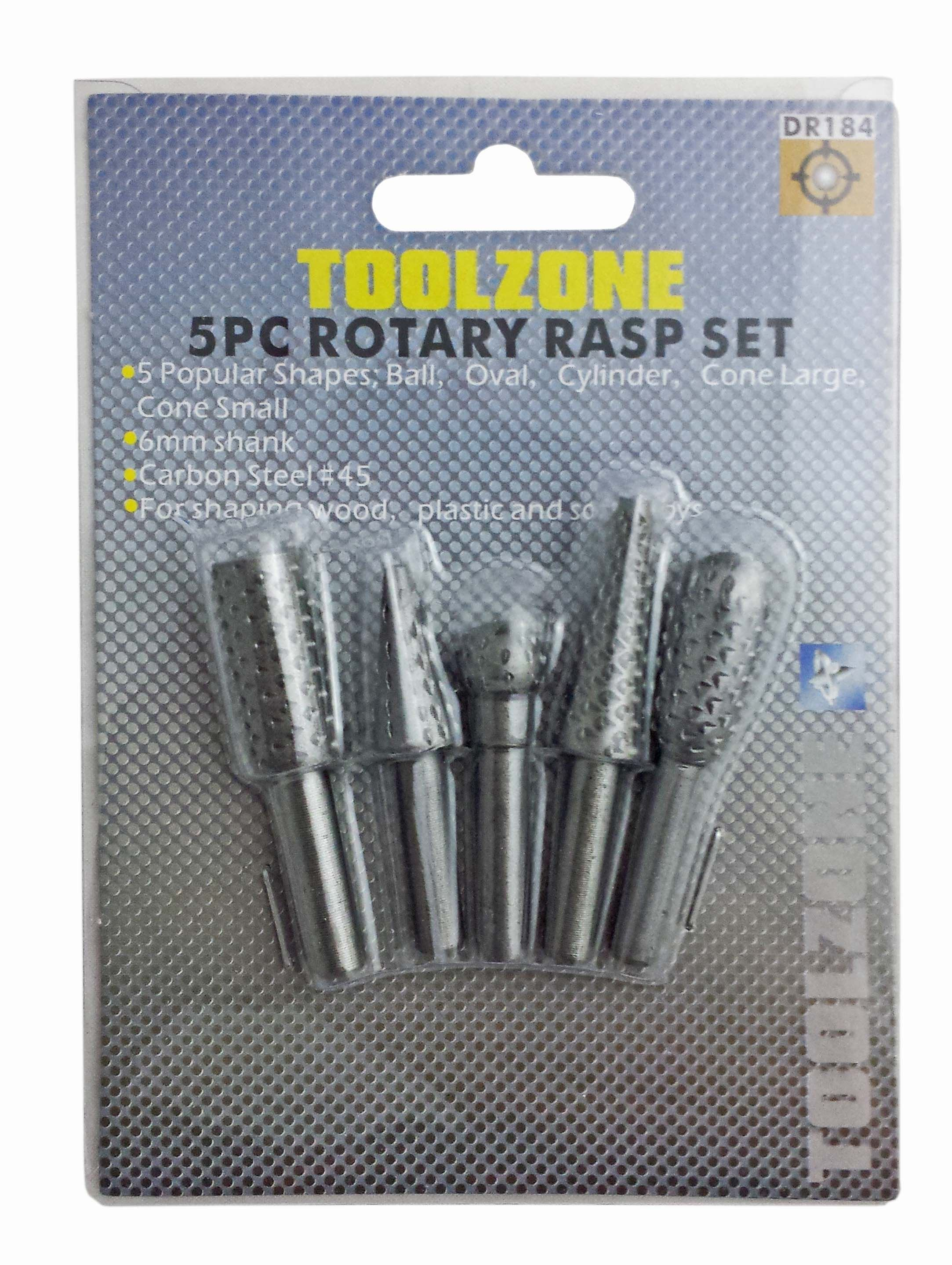 Toolzone 5Pc Rotary Rasp Set