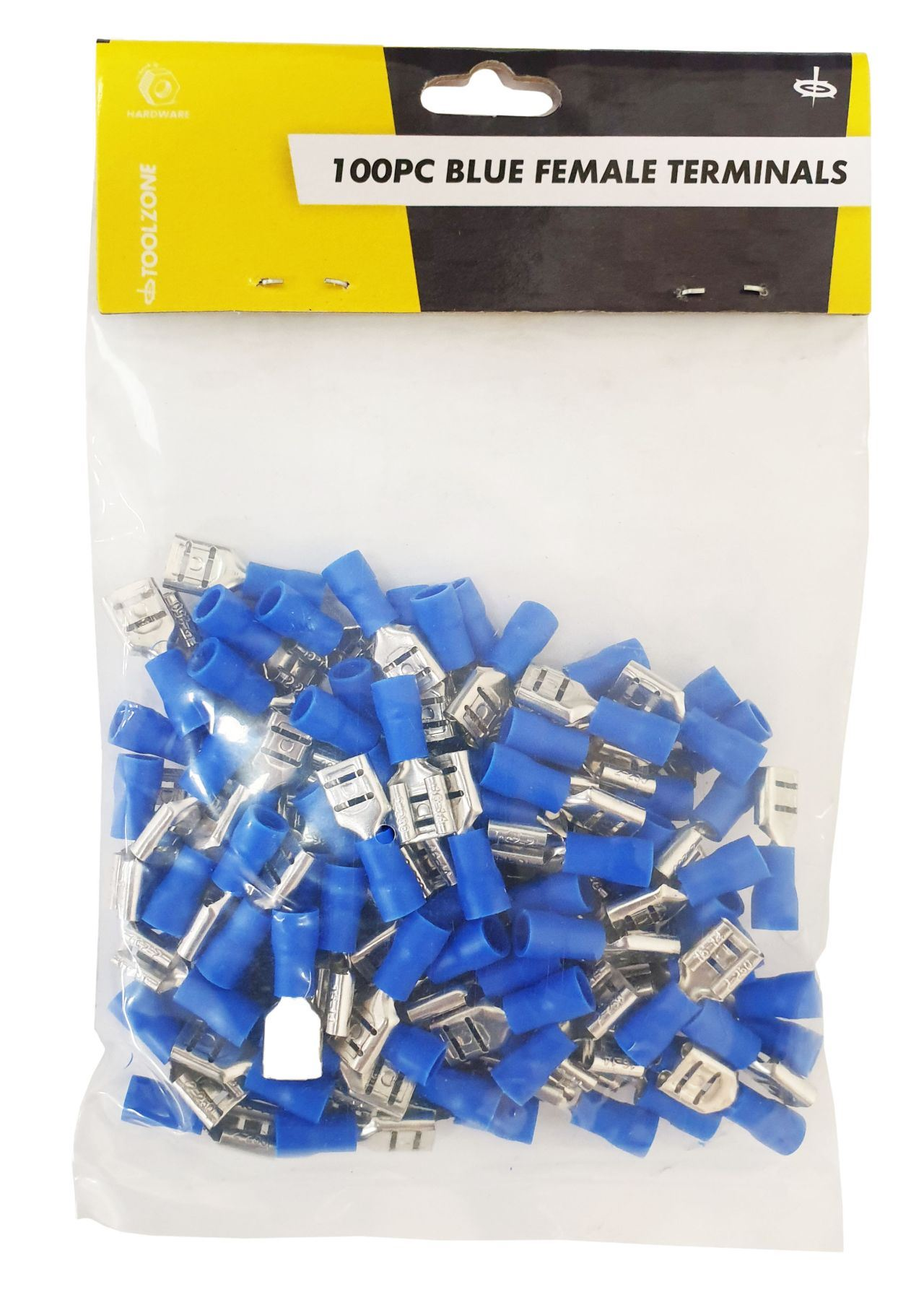 Toolzone 100Pc Blue Female Terminals