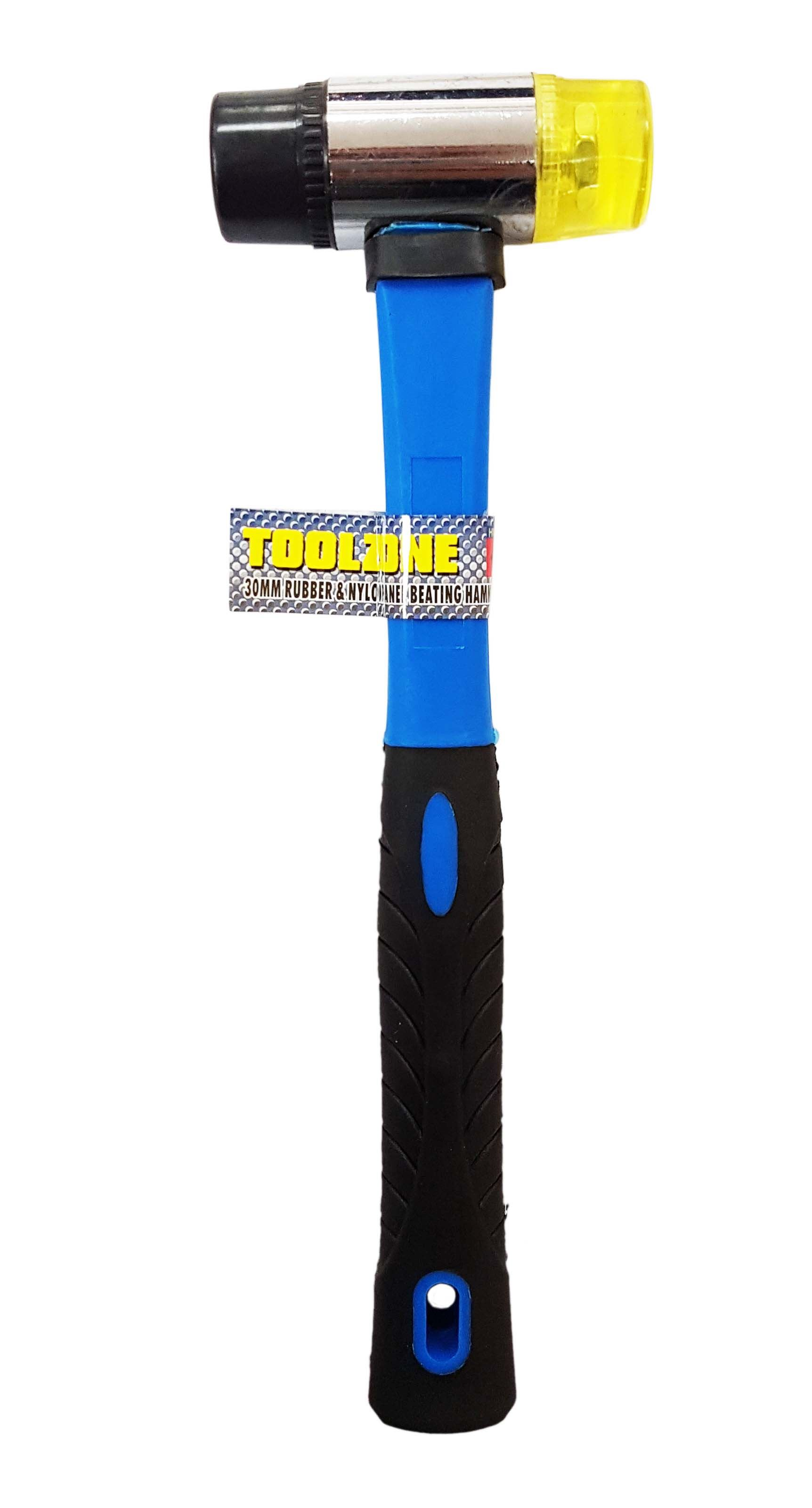 Toolzone 30Mm Rubber & Nylon Mallet Fibre Hdl