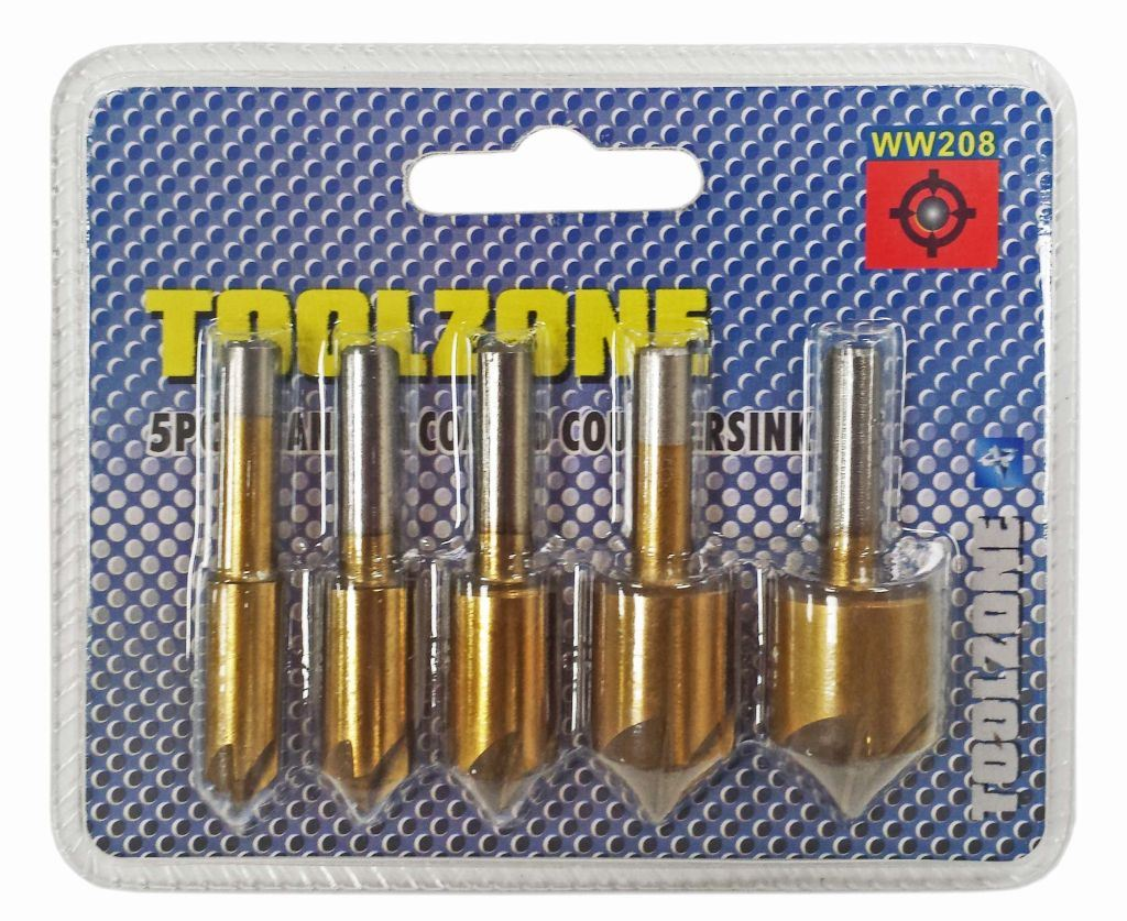 Toolzone 5Pc Countersink Set 8-19Mm